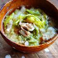 ♡ごまdeコク旨♡豚肉と白菜の生姜味噌スープ♡【#簡単#時短#味噌汁】
