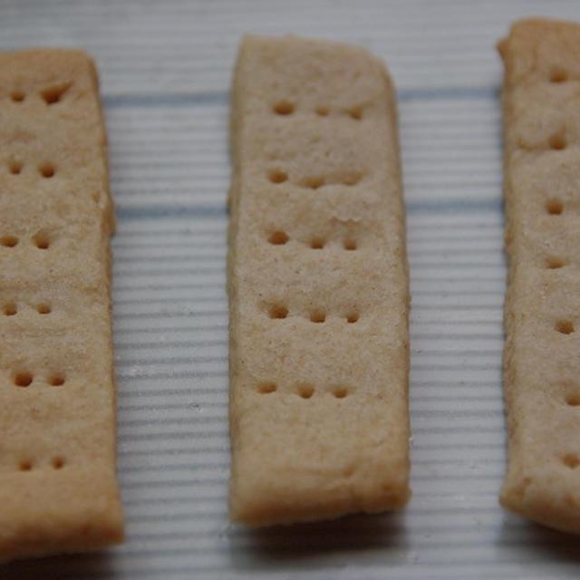 大麦粉と米粉のクッキー