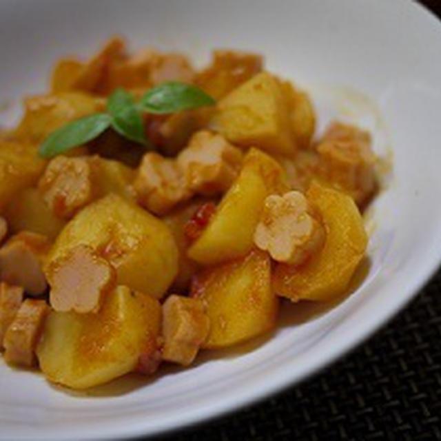魚肉のイタリアン風トマトの肉じゃが&魚肉ソーセージでヘルシーハンバーグ♪
