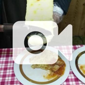 晩ご飯です「ラクレット風チーズがけごはん」