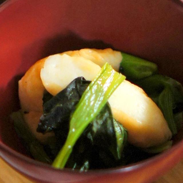 小松菜と笹かまぼこの煮浸し