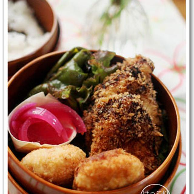 鶏むね肉の味噌塩麹漬け揚げ弁当