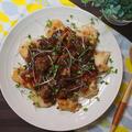 ♪鶏むね肉のバルサミコ酢煮フルーツソース♡