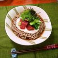 まぐろの山かけそば ~ ねばりの強い丹波産 『山の芋』 で❀ by mayumiたんさん