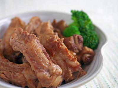 豚バックリブの照り煮