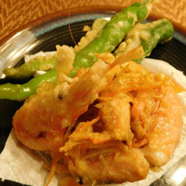 甘えびのチリ風味天ぷら