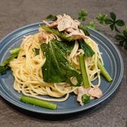 豚バラと小松菜のペペロンチーノ~スパイスアンバサダー