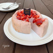【フルーチェ使って焼くまで5分】いちごのチーズケーキ