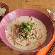麺つゆで簡単!豆乳担々麺風な献立