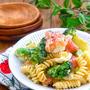 *ブロッコリーとゆで卵と生ハムとパスタのシーザードレッシングサラダ*...