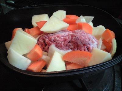 キッチンダッチオーブンで スープ