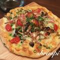 基本のだしで♡きのこの和風ピザ
