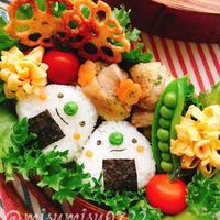 【キャラ弁】三角おにぎりちゃん弁当