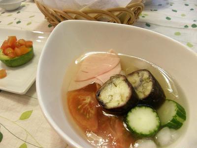 レモングラスの冷製スープ
