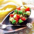 切って和えるだけ☆5分でアボカドと大根とトマトのサッパリわさび醤油和え♪〈熱中症&夏バテ対策〉