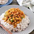 大豆入りスパイスドライカレーレシピ♪カレールウなし小麦粉なし