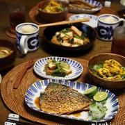 あじのごま照り焼きで晩ごはん。新しい炊飯器で新米を炊く♪