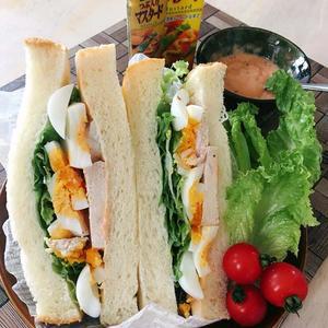 オーロラマスタード親子サンドイッチ