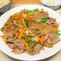 牛肉と春雨の肉野菜炒め
