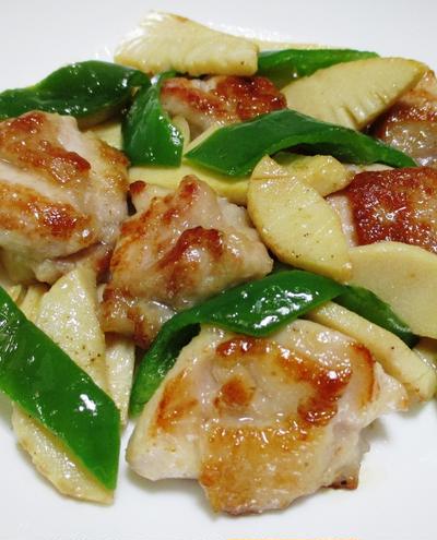 鶏肉と筍の花椒塩炒め<自宅で簡単に中華の味>