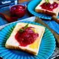 幸せ朝ごはんにゴロゴロ苺🍓コンフィ〜!苺大量消費にもおすすめ!
