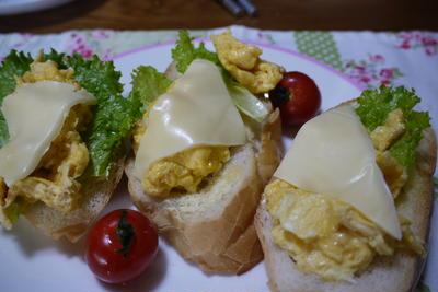 至福のスクランブルエッグサンド