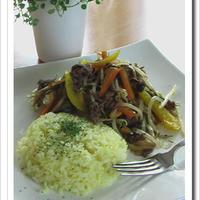 レシピブログ:宮殿焼き肉のたれで、夏野菜炒めのワンプレート