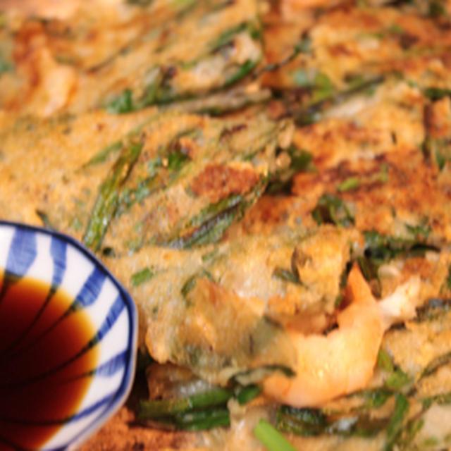 米粉のパリパリ海鮮チヂミ
