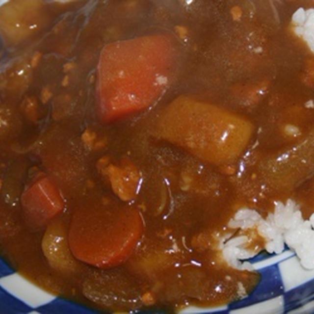 11月2日  鶏ひき肉と さつま芋の カレー