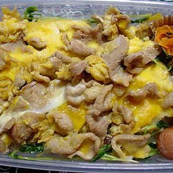 豚の卵とじ弁当~超手抜きだわ…