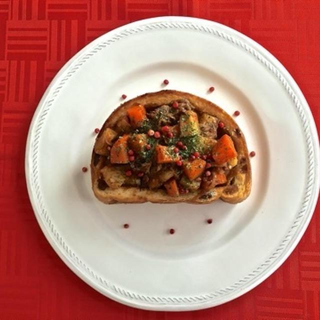 超美味しい♡クリスマスには『厚切りビーフシチュートースト』☆ 決めてはスパイス★スパイス大使★