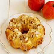 * りんごとクルミ&アーモンドのパン♪&4年ぶりの大雪