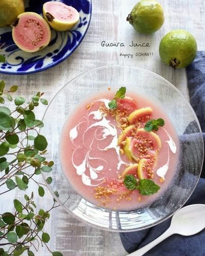 幸せのピンク色~グァバジュース