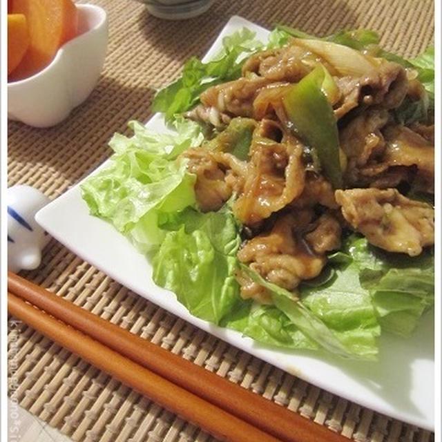 ネギと豚肉の相性はバッチリ!レタス盛りdeネギ豚照り焼肉炒め。モリモリすすむ君な晩ごはん