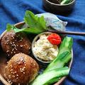 お弁当に〜めんつゆプチトマト(作りおき常備菜)〜肉巻きおにぎりlunch