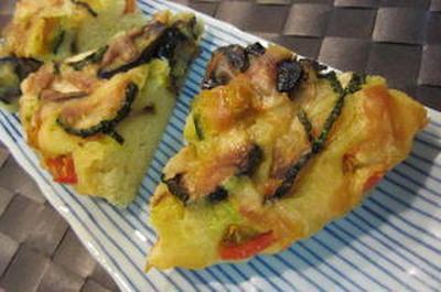 ☆HMで夏野菜とお豆腐のケークサクレ☆