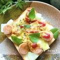 魚ニソと新玉葱のカレー風味のトースト