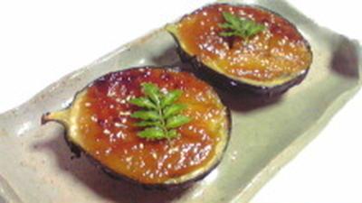 賀茂茄子の味噌田楽