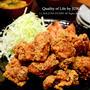 JUNA夫さん念願の鶏のから揚げ / 【ハンドメイド】「かわいい刺しゅう」本のミニクロス完成