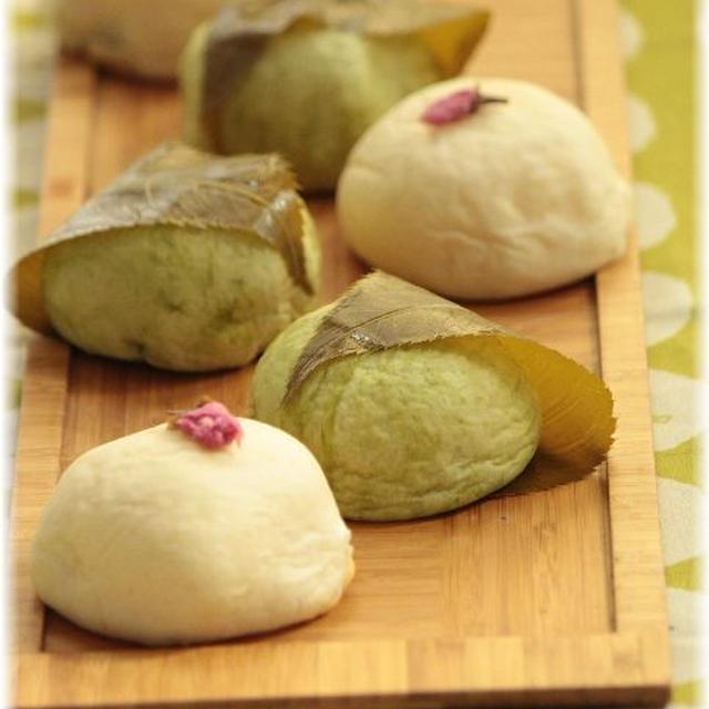 桜カスタードクリームのお豆腐パン。