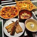 ピザ2種の献立 by RIESMOさん