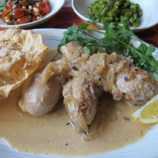鶏肉のヨーグルト煮  5・10・2012