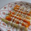 ホワイトアスパラとパプリカの黒胡椒ペーストドレッシングサラダ
