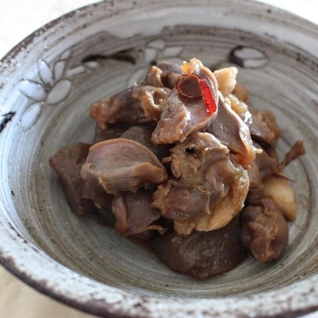 砂肝とこんにゃくのピリ辛炒め