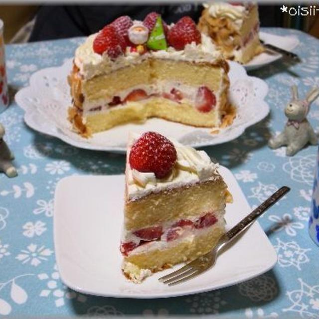 おうちカフェ☆手作りいちごのデコレーションケーキ