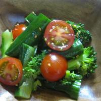 胡瓜の簡単和風和え物