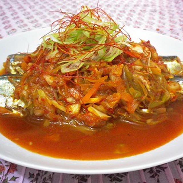 さんまの韓国風煮