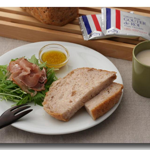 生ハム朝食