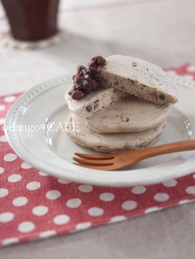 あんこ入り♪米粉のもっちりパンケーキ