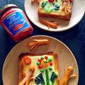 ソーセー人 デコトースト 息子と父の日料理予行練習♪